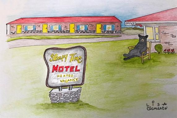 Humor Illustration - Sleepy Time Motel